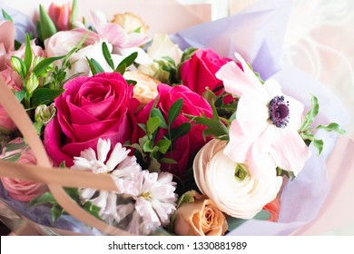 bouquet of flowers in a floral salon