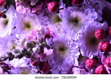 bouquet of flowers . fragment of flower arrangement.