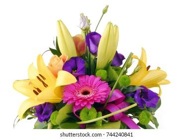 bouquet of flowers happy birthday