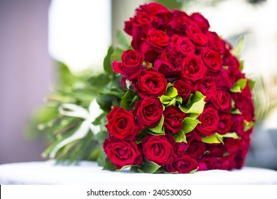 A bouquet of flowers bouquet of a hundred red roses