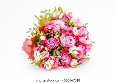 Bouquet of flowers isolated on a white background