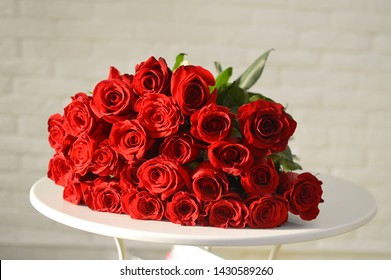 bouquet of flowers from red roses