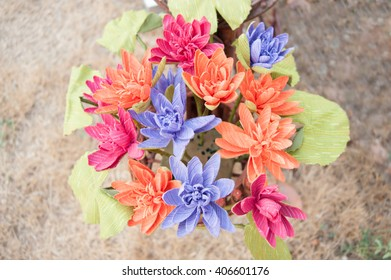 Bouquet of flowers in a small vase
