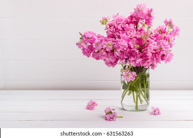Matthiola incana images stock photos vectors shutterstock bouquet of fragrant pink stock flowers matthiola in a vase mightylinksfo Gallery
