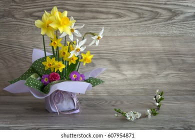 bouquet of fresh spring flowers