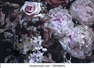 bouquet of peonies, a background of a floral composition.