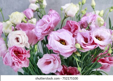 Lisianthus images stock photos vectors shutterstock bouquet of pink lisianthus flowers eustoma romantic wedding decoration mightylinksfo