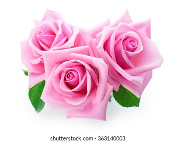 bouquet of pink roses on dark pink cloth