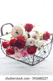 Bouquet of ranunculus flowers for woman's day