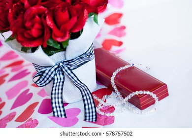 Bouquet of red roses,Valentines day gifts