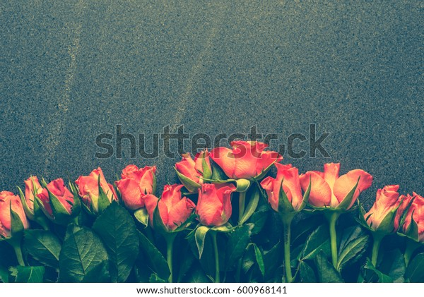 Bouquet of roses, background for mothers day
