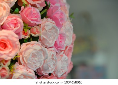 Bouquet of roses is blossoming beautifully.