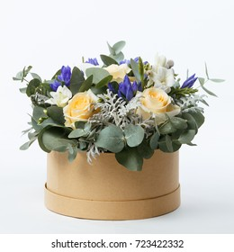 Bouquet of roses and decorate flowers