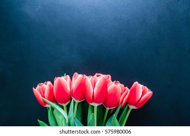 bouquet of roses and spring tulips.Flowers love.Happy Mother Day.Copy space.selective focus. , a place for an inscription