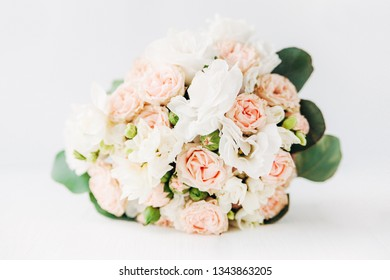 bouquet of roses.white background.minimal concept.copy space.mock up.