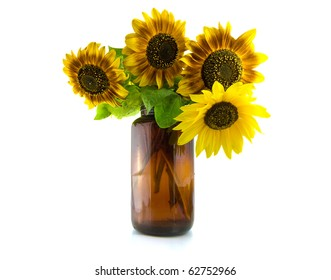 Bouquet of Sunflowers in vase