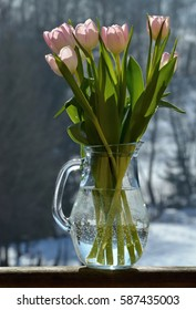the bouquet of tulips