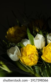 A Bouquet of Tulips in the Sunlight