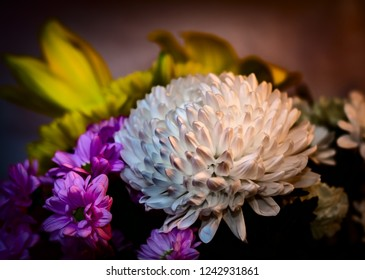 bouquet of yellow and pink white flowers