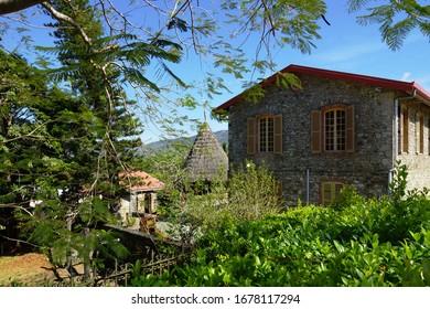 Bourail museum stone building, New Caledonia.