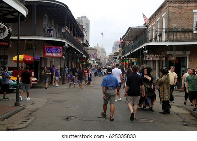 Bourbon street in the New Orleans French Quarter on April 2 2017