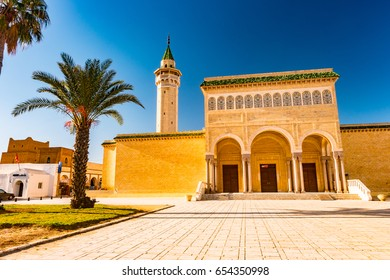 Bourguiba Mosque in Monastir, Tunisia. Traditional muslim architecture.
