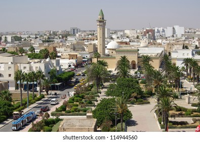 Bourguiba Mosque in Tunisia in Africa in summer day