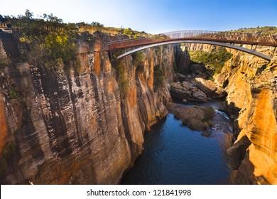 Bourke's Luck Potholes bridge, Mpumalanga, South Africa