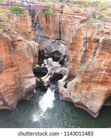 Bourke's Luck Potholes in South Africa - Raging waters have created a strange geological site.This natural water feature marks the beginning of the Blyde River Canyon