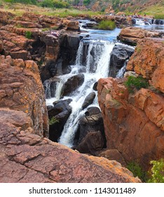 Bourke's Luck Potholes in South Africa - Raging waters have created a strange geological site.This natural water feature marks the beginning of the Blyde River Canyon.