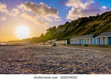 Bournemouth beach during sunset in England