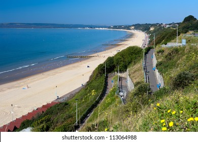 Bournemouth Beach to Sandbanks from the Zigzag cliff path.