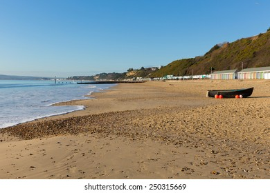 Bournemouth beach southern England UK near to Poole known for beautiful sandy beaches popular tourist location in English south