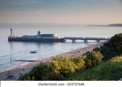 BOURNEMOUTH, UK - 1st JUNE, 2017: Bournemouth beach pier and coast, Dorset, England
