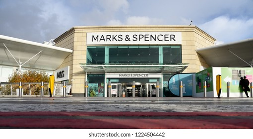 Bournemouth, UK November 08, 2018 Images of Marks and Spencer retail shop at the Castlepoint shopping complex ; M&S boss says MORE stores will close than the 100 already planned