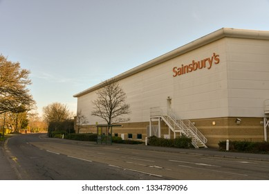 Bournemouth,UK February 25, 2019 Sainsbury's retail store situated in the Castle Point shopping complex.