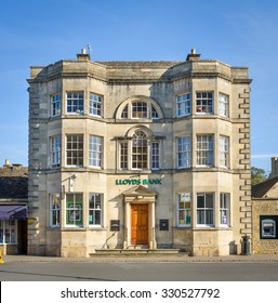BOURTON ON THE WATER, UK - October 20, 2015 - A beautiful example of Lloyds bank in a traditional building in the Cotswolds, Gloucestershire, England, UK, October 20, 2015