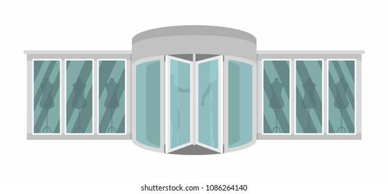 Boutique door banner. Flat illustration of boutique door banner for web  sc 1 st  Shutterstock & Turning Door Banner Flat Illustration Turning Stock Vector ...