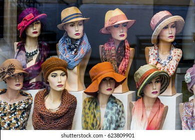 boutique with hats and women's fashion