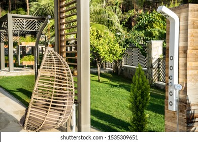 Boutique hotel with Pool Shower, hammock and green garden.