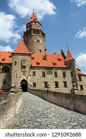 Bouzov Castle (Czech: Hrad Bouzov) is an early 14th-century fortress first mentioned in 1317. The castle has been used in a number of film productions lately, including Arabela, Fantaghirò etc.