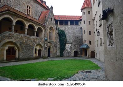 Bouzov Castle. Moravia. Czech Republic.