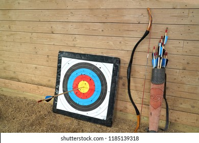 Bow and arrow old weapon system archery.