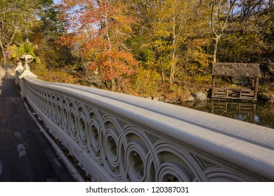 The Bow Bridge  is a cast iron bridge located in Central Park, New York City, crossing over The Lake and used as a pedestrian walkway
