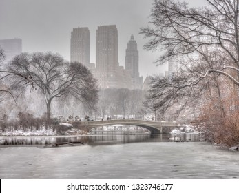 Bow Bridge in New York City, Central Park Manhattan