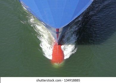 bow of a freighter