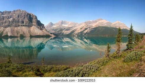 Bow Lake, Banff National Park, Alberta, Canada 30 Kilometers North of Lake Louise