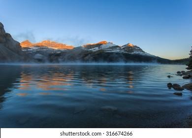 Bow Lake in Jasper National Park