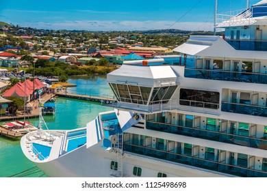 Bow of Luxury  Cruise Ship