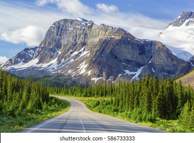 Bow Peak and Icefields Parkway, Banff National Park, Canada